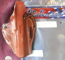 "Desantis #001 OWB Leather TB HolsterColt Gov't 45 5"" & Sim Right Hand Tan D329"
