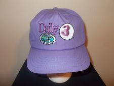 VTG-1980s Minnesota State Lottery Daily 3 loon logo purple strapback hat sku12