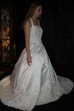 ALFRED ANGELO WEDDING GOWN WHITE SIZE 10 PRINCESS BALL PEARLS NWT