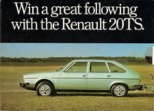 Renault 20 TS & CI Caravans 1979 UK Market Competition Entry Brochure