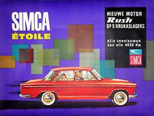 AFFICHE ANCIENNE AUTOMOBILE SIMCA ETOILE CI 1965