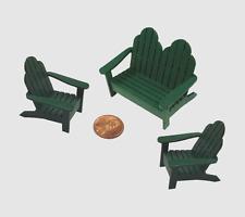 1:24 Scale Dollhouse Miniature Adirondack Chair Set Kit