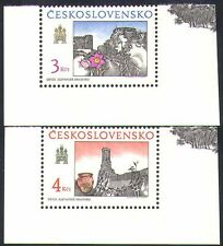 Czechoslovakia 1989 Castle/Buildings/Architec ture/Heritage/Flowers 2v set n37164