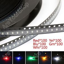 500Pcs 0805 SMD LED Red Green Blue Yellow White 5Colours Ligero Diodes Emitting