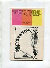 Vintage Broadway Theatre PLAYBILL 1973 SEESAW Michele Lee Tommy Tun John Gavin