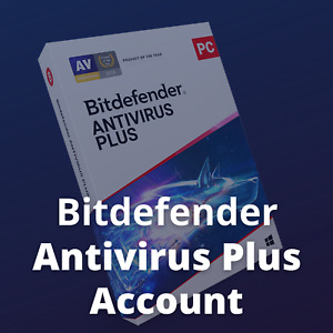 Bitdefender Antivirus Plus 2021 Unique Account 1 User 1 Year for Windows PC