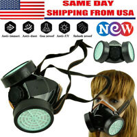 Safety Gas Mask Respirator Half Face Protecter Painting Spraying Facepiece.