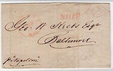 CHILE 1840 Valparaiso to Boston by steamship SHIP postmark in red US USA