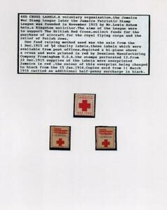 JAMAICA: Red Cross Labels - Ex-Old Time Collection - Album Page (40685)