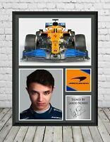 Lando Norris Signed Photo Print Poster Mclaren Formula One Memorabilia