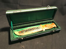Soapstone? Afghanistan Fixed Blade Knife Letter Opener Collectible With Case