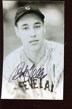 Bob Feller Autographed Photo Postcard Hologram