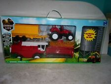 New Ray Country Life Farm Tractor & Combine Toy Play Set - New in Box