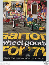 1971 PAPER AD 2 Sided Garton Pedal Car Super Sprite Stinger Bicycle