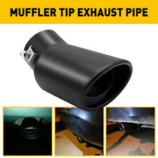 Car Exhaust Pipe Tip Rear Tail Throat Muffler Stainless Steel Bend Accessories Fits 1999 Mitsubishi Mirage