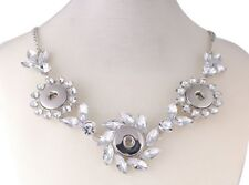 Necklace Multi Snap Fits 3 18mm Snap Buttons  Rhinestone Star Metal Snap