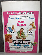THE PARENT TRAP original 1961 DISNEY movie poster HAYLEY MILLS/MAUREEN O'HARA