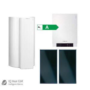 Viessmann Paket Vitodens 200-W 13 kW Gasbrennwert Therme Solar Vitososl 200-FM