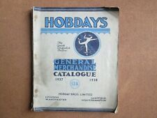 Hobdays General Merchandise Catalogue 1937/1938 Hobday Bros Limited Very Rare