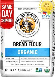 King Arthur Organic Bread Flour 5 LB Unbleached