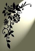 A5 plantilla Damasco florecer Muebles Aerógrafo Vintage Shabby Chic ❤ de Mylar de 190