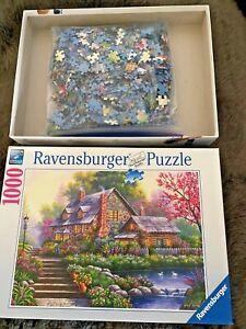 """Ravensburger Puzzle """"Romantic Cottage"""", 1000 Pieces, No. 151844 excellent cond."""
