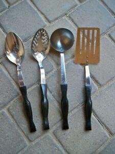 4 Vintage Cutco Tools Serving Spoon; Slotted Spoon, Spatula, Ladle made USA