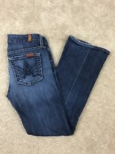 7 For All Mankind Size 24 A Pocket Jeans Flare Womens Denin Pants Medium Wash