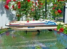 Rare! Vintage Plastic battery operated speed boat Dolphin Delphin (made in USSR)