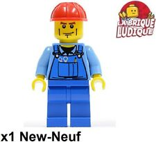 Lego Figurine Minifig city ouvrier worker chantier outil tool casque trn141 NEUF