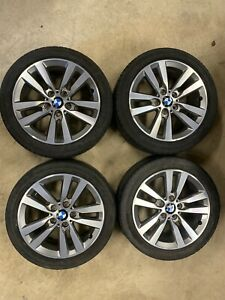 BMW 1 2 SERIES F20 F22 SET OF 4 GENUINE ALLOY WHEELS 17'' WITH TYRES 6866303