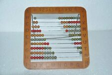 Old Wooden & Iron Alphabets & Numbers Engraved Anchor Mark Abacus , Germany