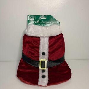 Saint Nick's Choice Red Velvet White Fur Medium Santa Christmas Dog Costume