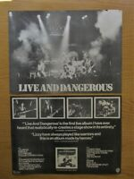 THIN LIZZY LIVE & DANGEROUS 2 x FULL PAGE MAGAZINE AD CUTTINGS POSTERS 1978