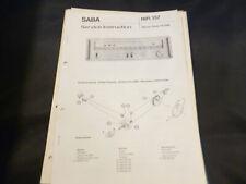 Original Service Manual esquema eléctrico Saba HiFi amplificador vs 2080
