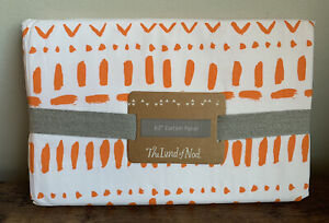 """Crate & Kids THE LAND OF NOD 44 x 63"""" CURTAIN (1) PANEL Tribal Excursion Orange"""