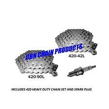 Baja Mini Bike, MB165 Chain, MB200 Chain, 2 Chains Includes NEW Spark Plug