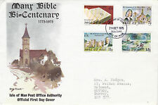 IOM 29 OCTOBER 1975 MANX BIBLE BICENTENARY FIRST DAY COVER DOUGLAS FDI