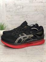 ASICS Men's MetaRide Size 8.5 Running Shoe Black Classic Red 1011A142 001