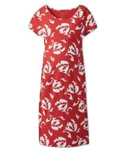 Maternity Floral Print Short Sleeve T-Shirt Dress Red - Isabel Maternity