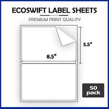 100 85 X 55 Ecoswift Shipping Half Sheet Self Adhesive Ebay Paypal Labels