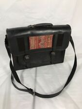 Leather Briefcase laptop messenger Bag travel handbag Native American Vintage