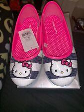 8721c06ed Sanrio HELLO KITTY Shoes White Black Pink Sparkle Ballet Flats Mary Jane 1  New