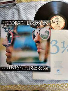 GEORGE HARRISON - THIRTY THREE & 1/3 LP *With Inner lyric Sleeve