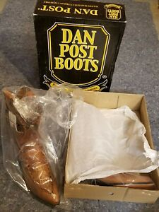 Laredo Mens Laramie Western Cowboy Boots Stitched Leather Pull On Snip Toe Tan