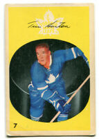 1962/63 Parkhurst Tim Horton Card #7 Toronto Maple Leafs