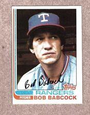 1982 Topps Baseball card #567 Bob Bacock Rangers EX