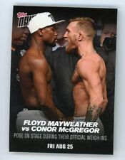 2017 Topps Now Floyd Mayweather vs Conor McGregor Card