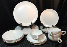 Oneida Melamine Retro Dinnerware Set~20 piece, white, vintage-serves 4