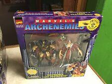 1997 Toybiz Marvel Comics Archenemies WOLVERINE LADY DEATHSTRIKE Figure Set MIB